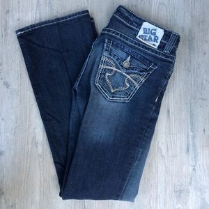 Big Star Boot Cut Jeans 28R Remy Low rise Fit